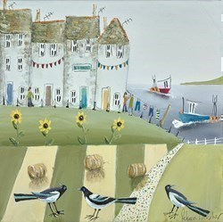 Pica Pica Three by Rebecca Lardner -  sized 12x12 inches. Available from Whitewall Galleries